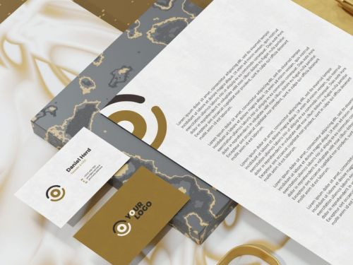 هوية بصرية كاملة تصميم وطباعة