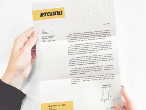 طباعة وتصميم أوراق المعاملات الرسمية مع راية الرواد